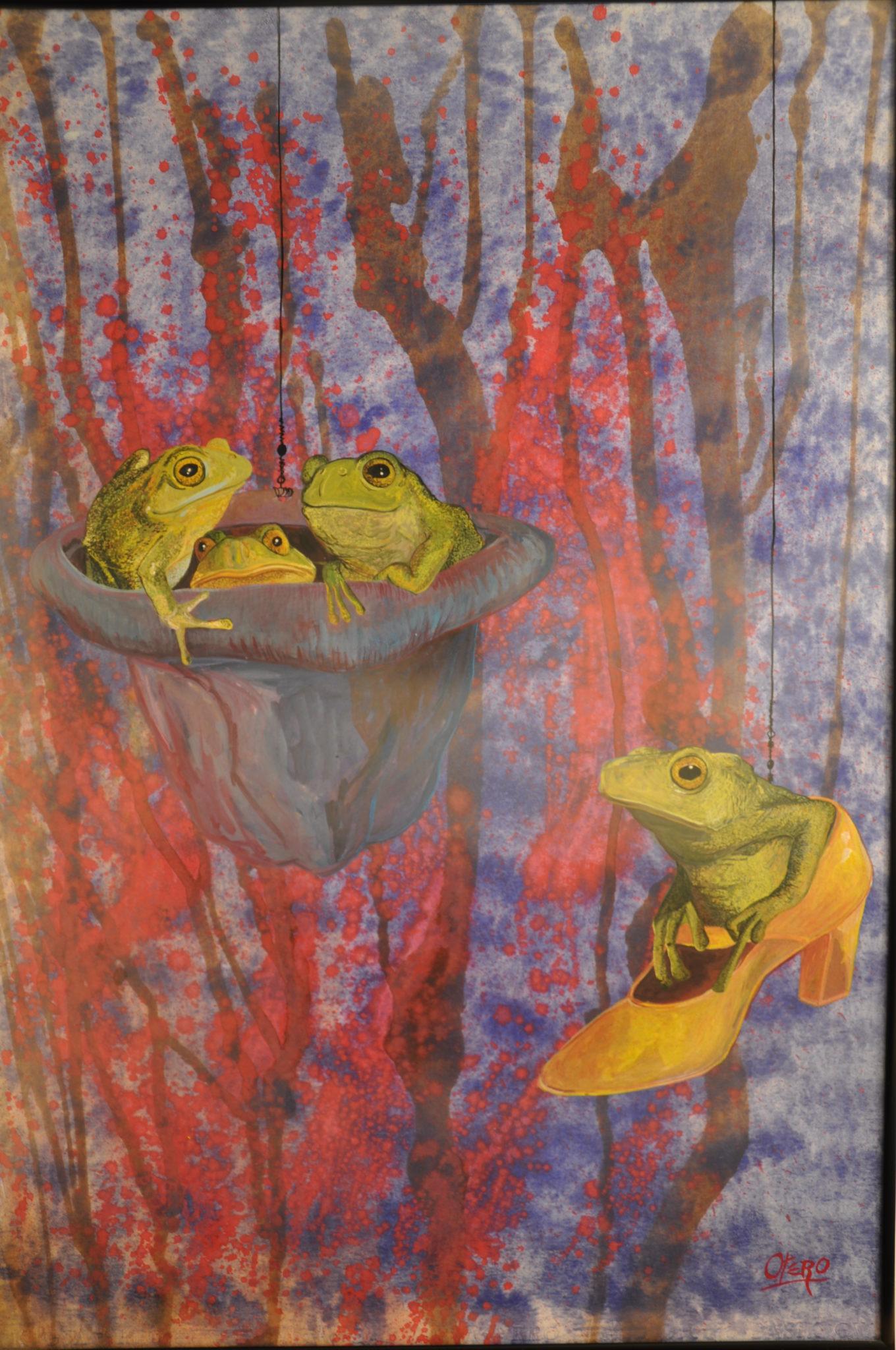 El bosque encantado, 1994.Gouache sobre cartulina Basik 50x 70 cms. Bego Otero. www.oteroart.com