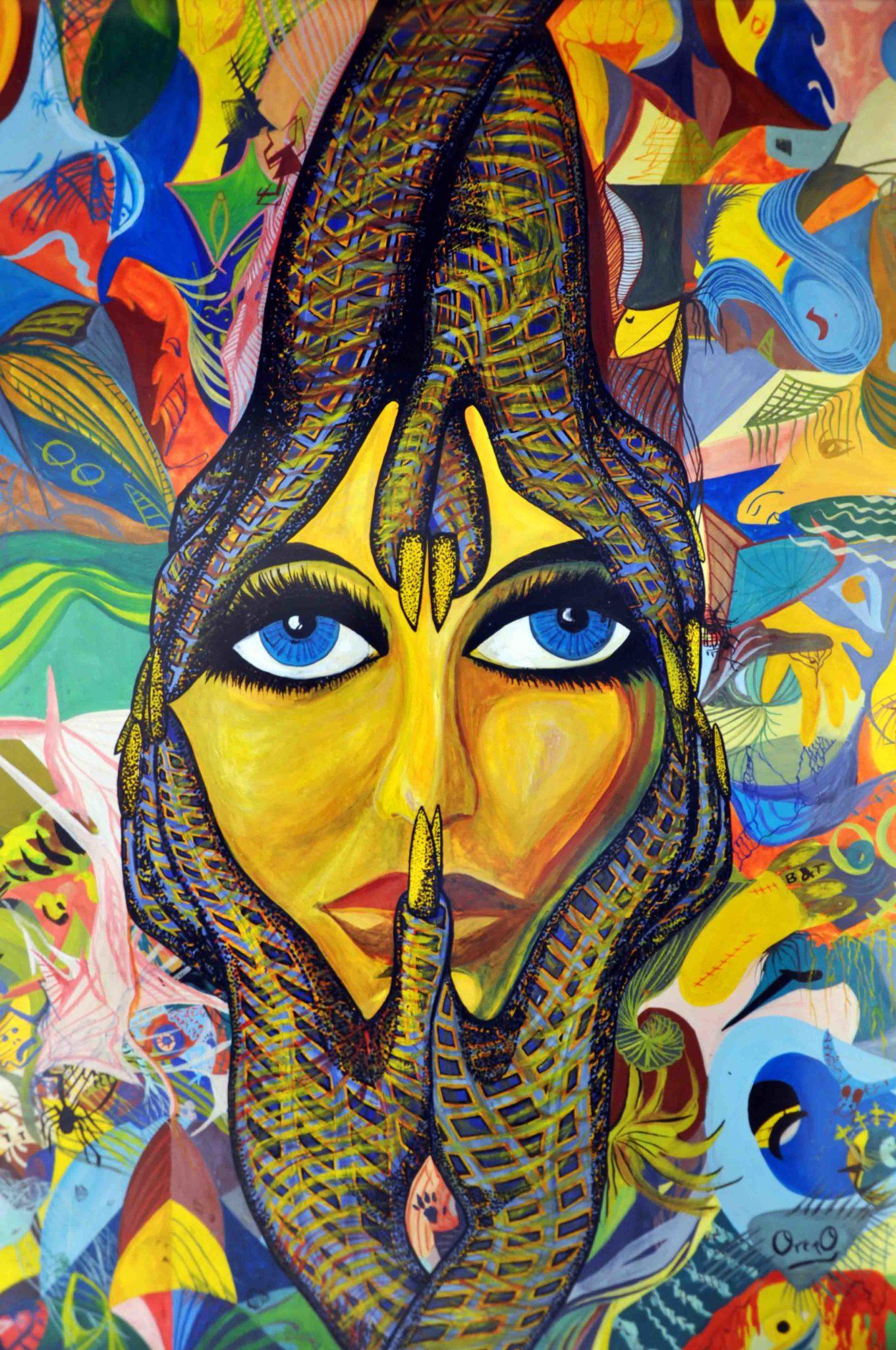 Gilda, 1994. Gouache sobre papel Basik 70x50 cms. Bego Otero.
