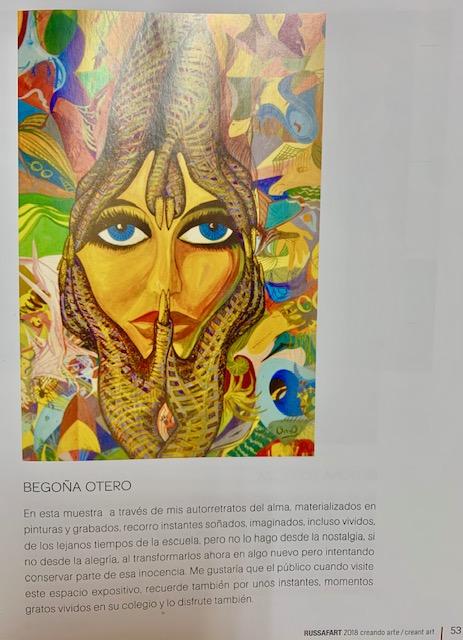 Reseña en el catálogo Russafart 2018 de la participación de Bego Otero.