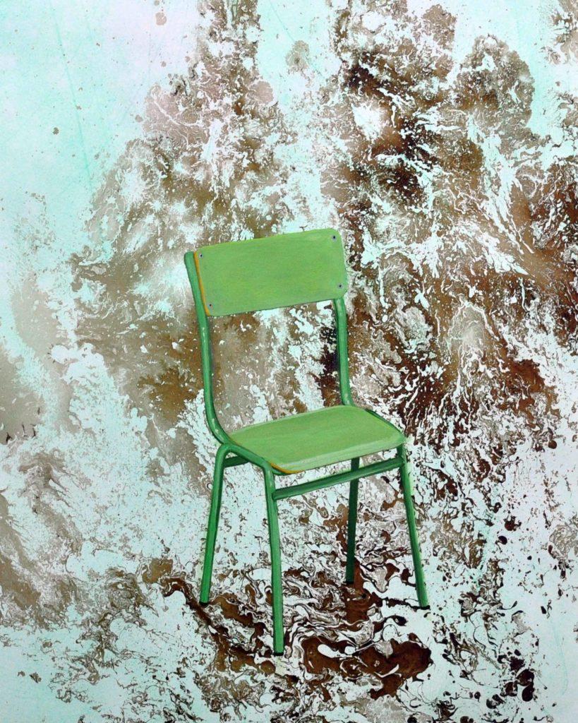 La silla de mi colegio, 2018.Bego Otero. www.oteroart.com