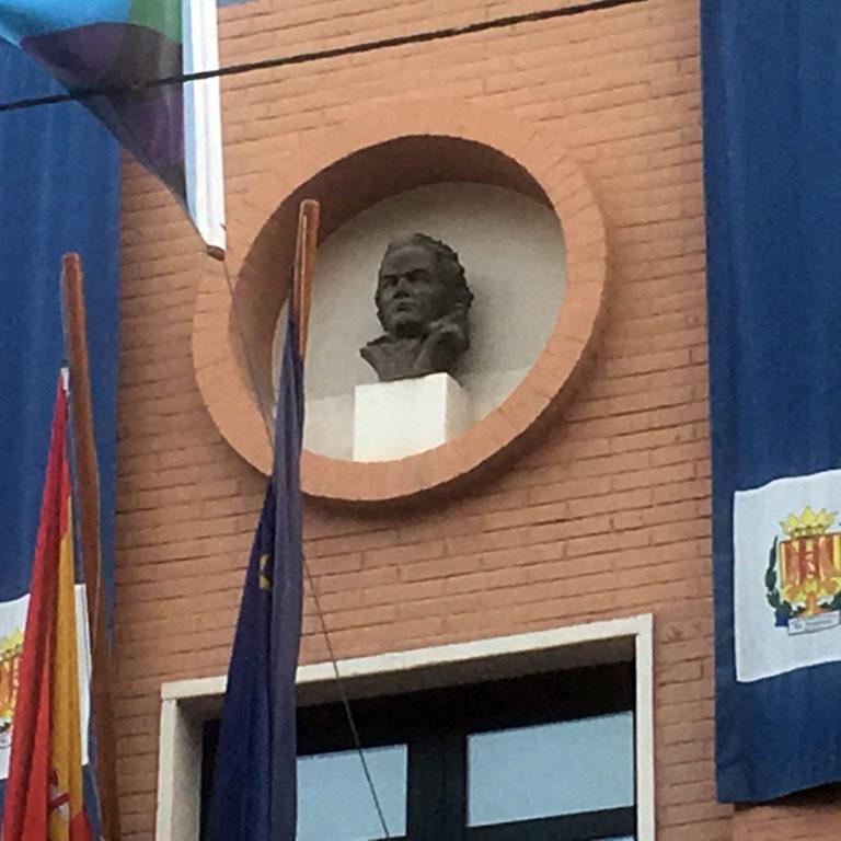 Busto de Beethoven, Palau de la música de Buñol, Valencia.Bego Otero