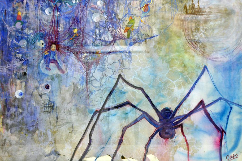 Buscando a Atenea.Gouache técnica mixta 70x 50 cms.Bego Otero.Pintura.www.oteroart.com
