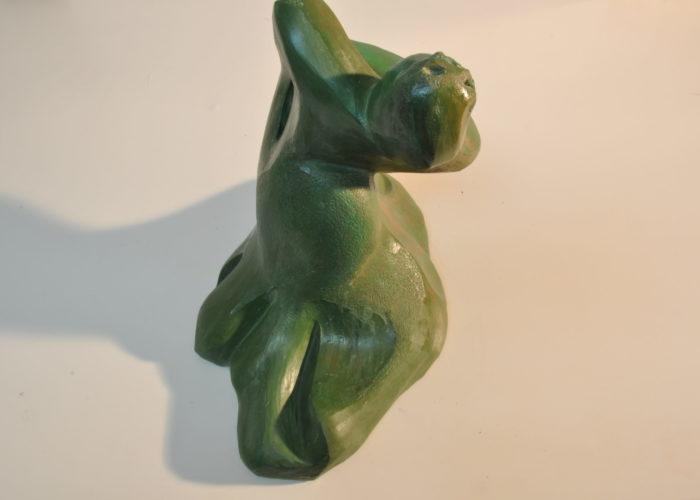 Bulería. Gres cerámico patinado en bronce.30x 30x 16 cms. Bego Otero.www.oteroart.com